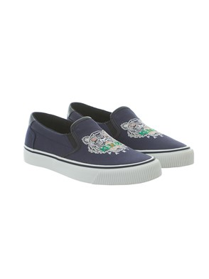 KENZO - BLUE LOGO SLIP-ONS