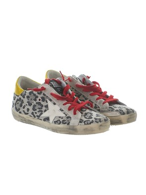 GOLDEN GOOSE - ANIMAL PRINT SUPERSTAR SNEAKERS