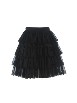 N21 - BLACK FRILL LACE SKIRT