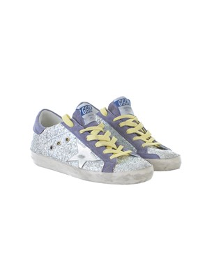 GOLDEN GOOSE - PURPLE GLITTLE SUPERSTAR SNEAKERS