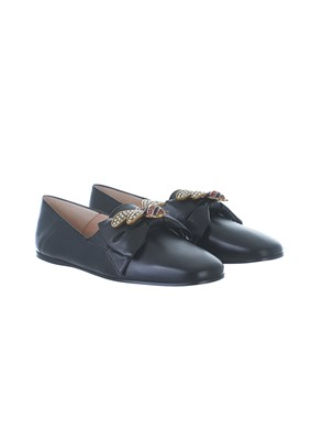 GUCCI - BLACK BALLET FLATS WITH BOW