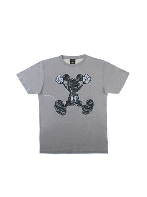 MARCELO BURLON COUNTY OF MILAN - GREY MICKEY JUMP T-SHIRT