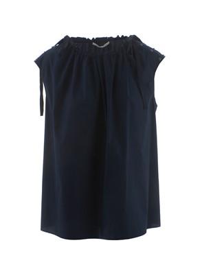 AGNONA - MIDNIGHT BLUE APPLIQUE TOP