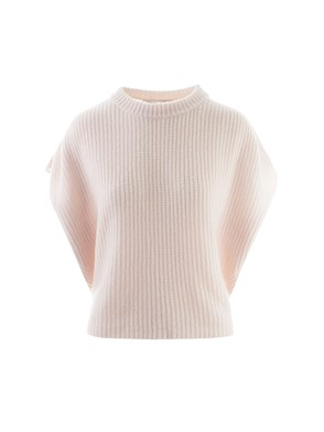 AGNONA - SLEEVELESS PINK SWEATER
