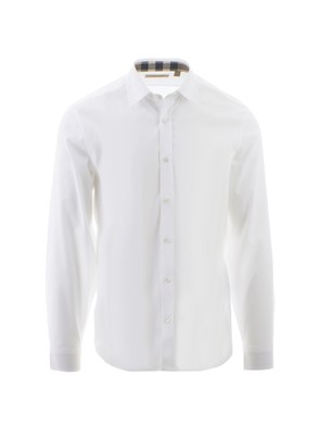 BURBERRY - WHITE CAMBRIDGE SHIRT