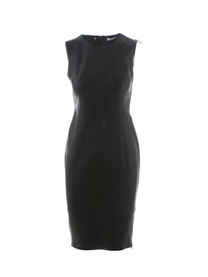 DESA - BLACK LEATHER SHEATH DRESS
