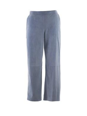 DESA - SUEDE LIGHT BLUE PANTS