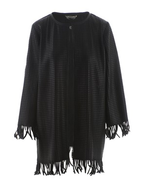 DESA 1972 - BLACK WOVEN LEATHER DUSTER