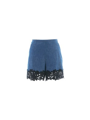 SEE BY CHLOE' - BLACK LACE JEANS SHORTS