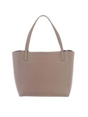 SALVATORE FERRAGAMO - SHOPPING MIMI BEIGE NERO