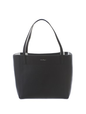 SALVATORE FERRAGAMO - BLACK AND SILVER BAG