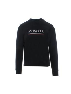 MONCLER - BLACK MACRO LOGO SWEATSHIRT