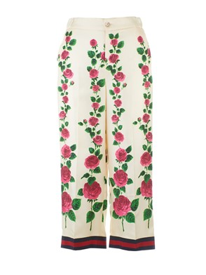 GUCCI - PANTS WITH ?ROSE GARDEN? PRINT