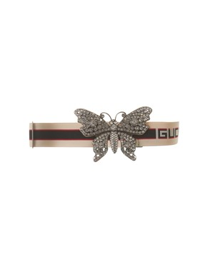 GUCCI - WHITE BELT WITH BUTTERFLY