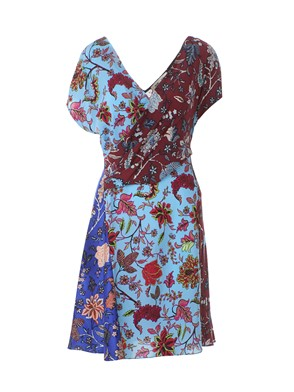 DIANE VON FURSTENBERG - WRAP DRESS WITH FLORAL PRINT