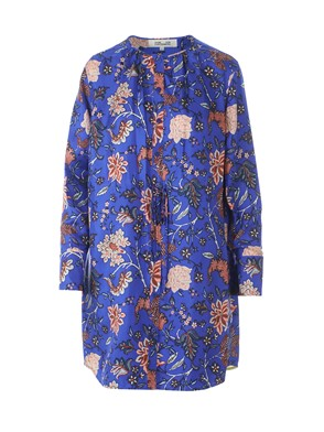 DIANE VON FURSTENBERG - SILK DRESS WITH FLORAL PRINT