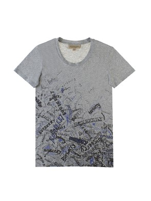 BURBERRY - GREY DRAWINGS T-SHIRT