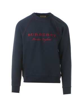BURBERRY - BLUE AND RED SWEATSHIRT