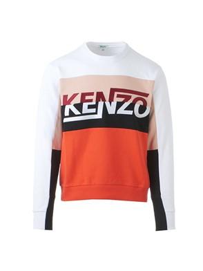 KENZO - RED AND WHITE LOGO SWEATSHIRT