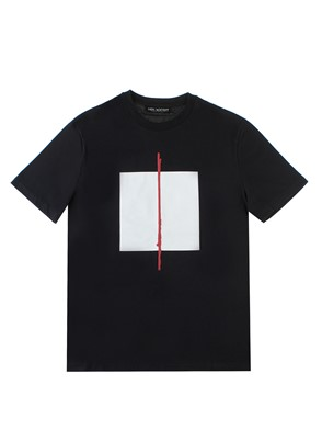 NEIL BARRET - PRINTED BLACK T-SHIRT