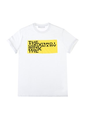 NEIL BARRETT - YELLOW-PRINTED T-SHIRT