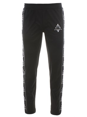 MARCELO BURLON - BLACK KAPPA PANTS