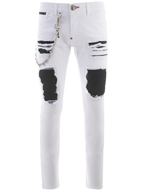 PHILIPP PLEIN - WHITE SLIM FIT JEANS