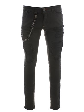 PHILIPP PLEIN - BLACK SLIM FIT JEANS