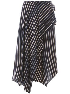 DIANE VON FURSTENBERG - MULTICOLOR STRIPED SKIRT