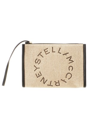 STELLA MC CARTNEY - BEIGE STELLA CLUTCH