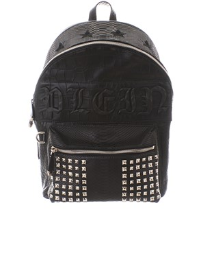 PHILIPP PLEIN - BLACK COME ON IN BACKPACK