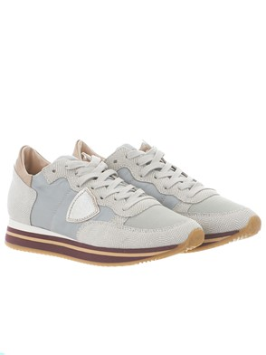 PHILIPPE MODEL - GREY TROPEZ HIGH SNEAKERS