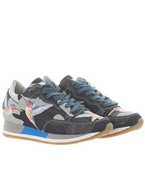 PHILIPPE MODEL - BLUE TROPICAL SNEAKERS