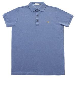 ETRO - PETROL BLUE POLO SHIRT