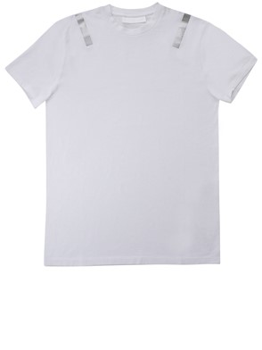 NEIL BARRETT - WHITE STRIPED T-SHIRT