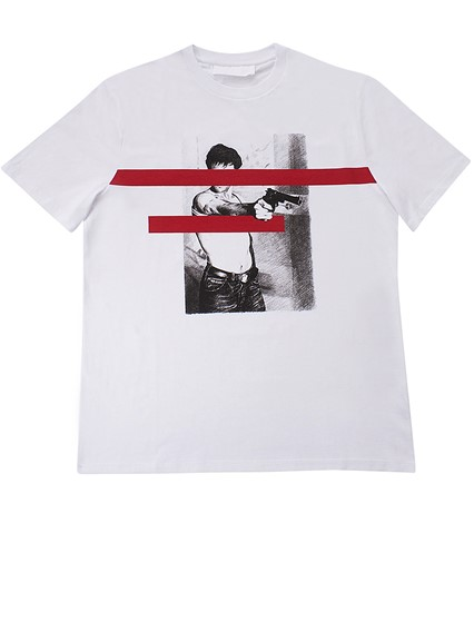 NEIL BARRETT WHITE PRINTED T-SHIRT