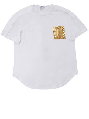 VERSACE COLLECTION - WHITE T-SHIRT WITH POCKET
