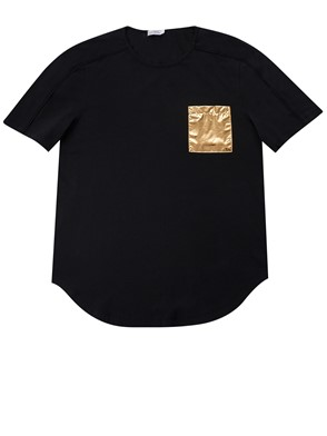 VERSACE COLLECTION - BLACK T-SHIRT WITH POCKET