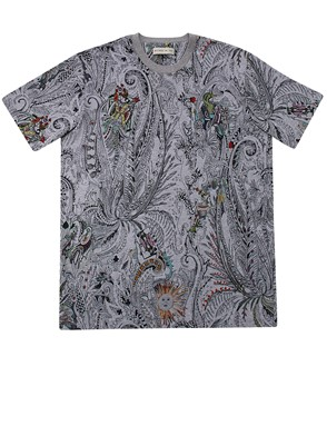 ETRO - GREY PRINTED T-SHIRT