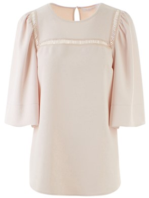 SEE BY CHLOE' - NUDE BLOUSE