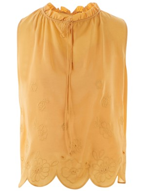 SEE BY CHLOE' - TOP RICAMO GIALLO