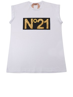 N21 - WHITE AND GOLD N21 T-SHIRT