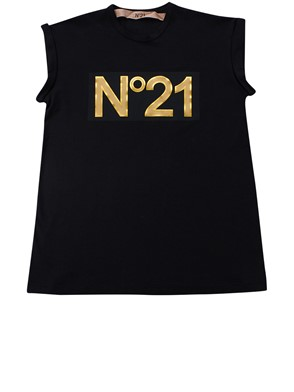 N21 - BLACK AND GOLD N21 T-SHIRT