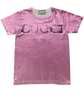 GUCCI - RED AND FUCHSIA T-SHIRT