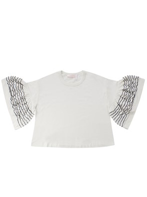 SEE BY CHLOE' - BLUSA BIANCO MANICA RIGHE