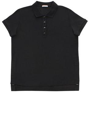 MONCLER - BLACK POLO SHIRT