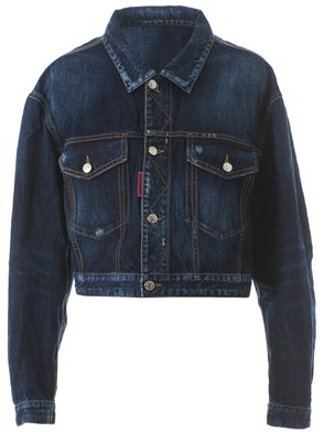 DSQUARED2 - LIGHT BLUE BE COOL BE NICE BOMBER JACKET