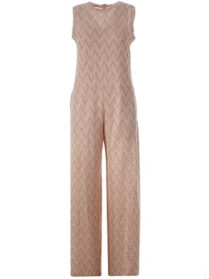 M MISSONI - ANTIQUE PINK AND GOLD JUMPSUIT