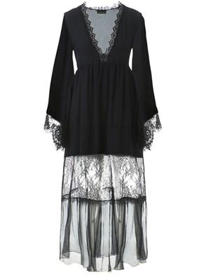 ERMANNO SCERVINO - BLACK SILK LACE DRESS