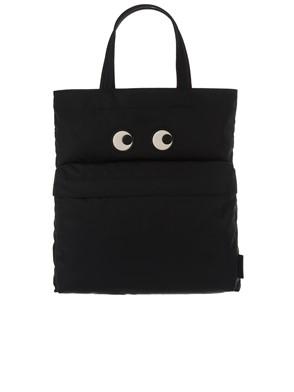ANYA HINDMARCH - BLACK TOTE EYES BAG
